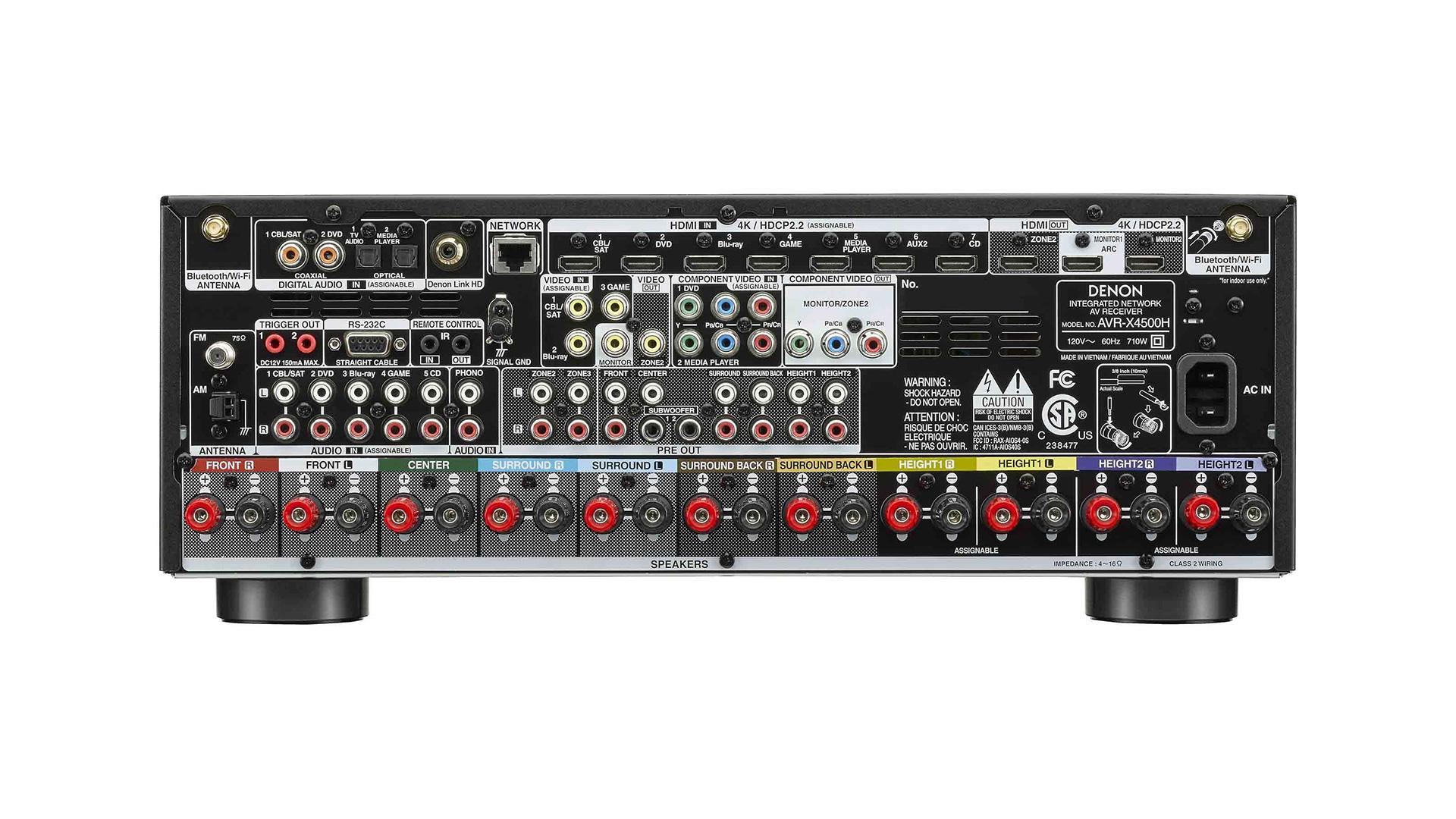 Denon AVR-X4500H AV Surround Receiver (Back) at Creative Audio in Winnipeg