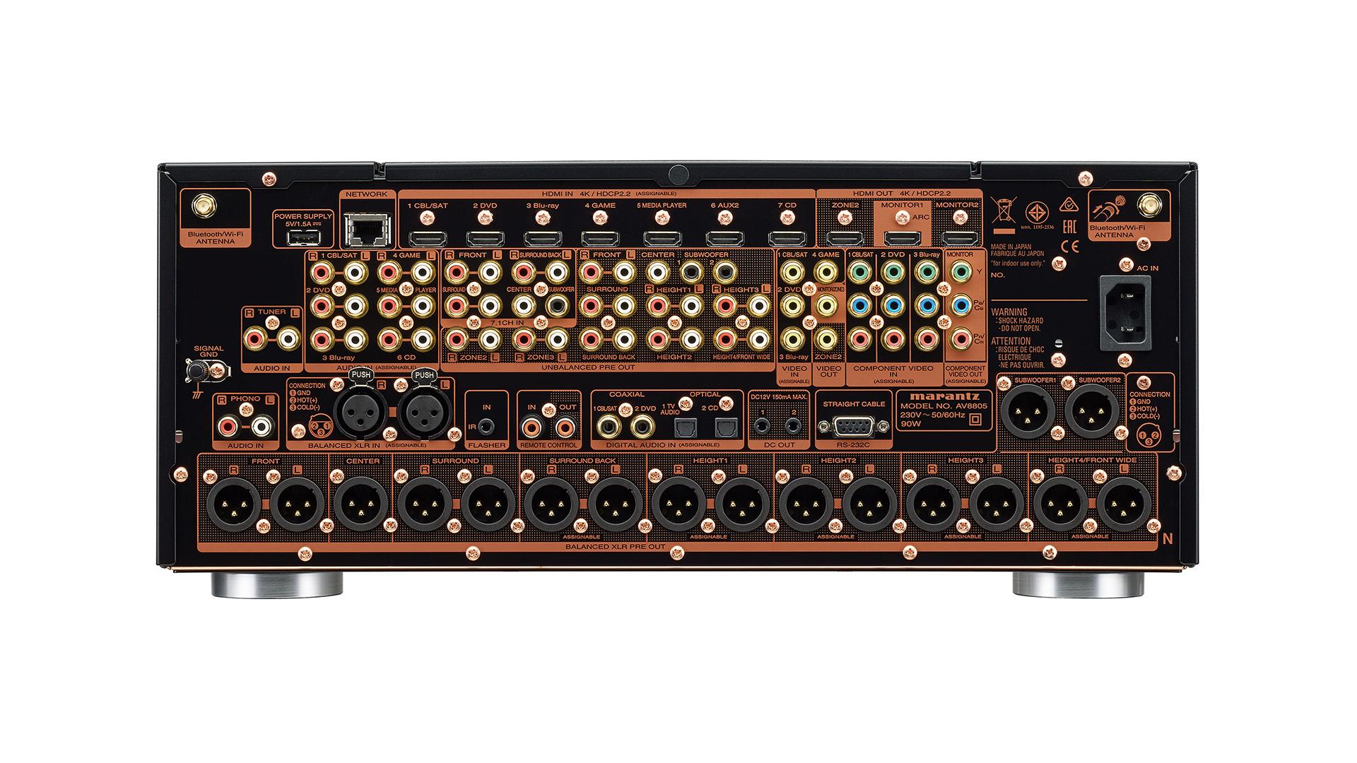Marantz AV8805 AV Surround Processor (Back) at Creative Audio in Winnipeg