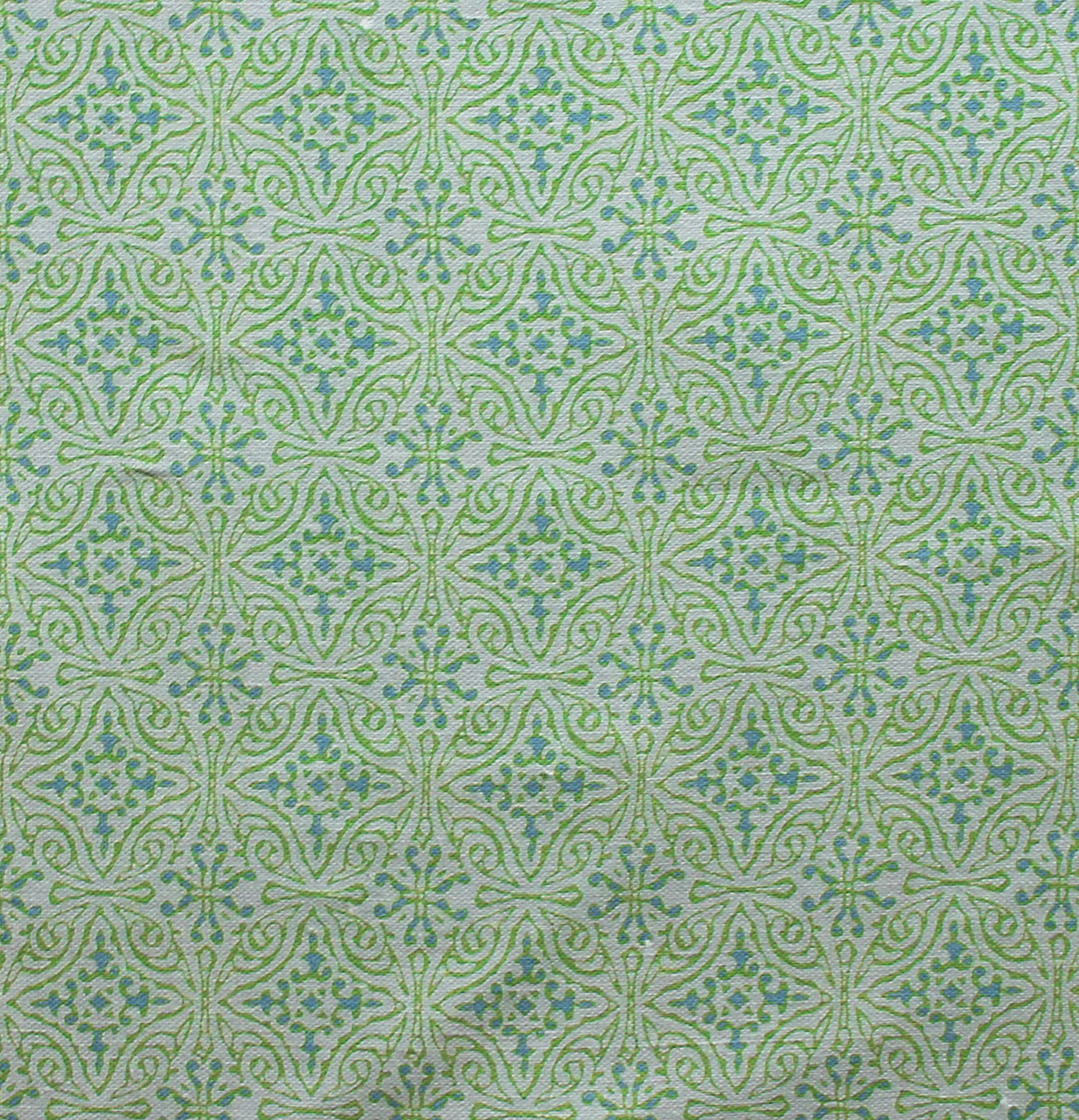 Small Diamond Batik: Green
