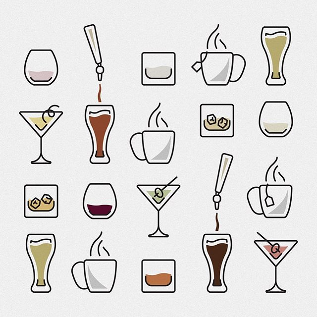 New illustration friends drafted for new client friends. #illustration #mixeddrinks #happyhour