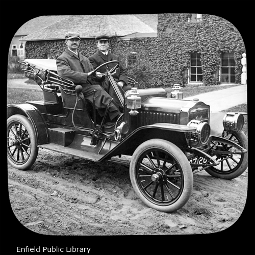 Levi Abbe and His Car