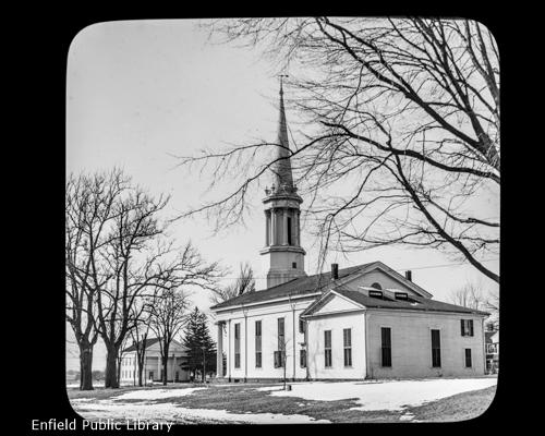 Enfield Congregational Church in Winter