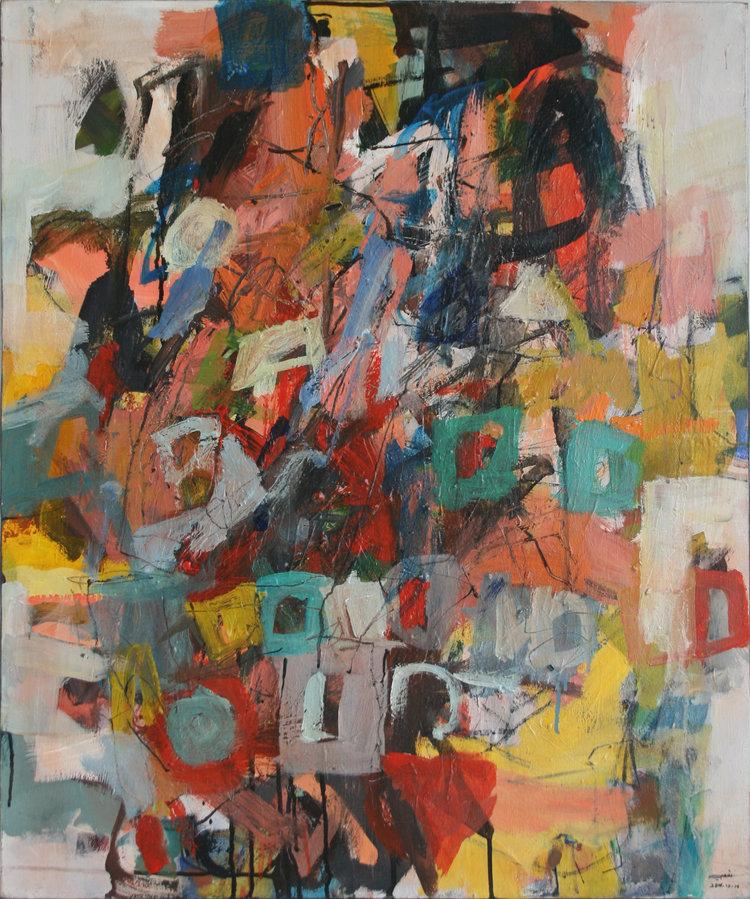 Temp. Wissam Shaaby, acrylic painting