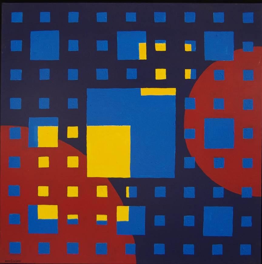 Archéologie du changement. Remo Ciucciomei, acrylic painting