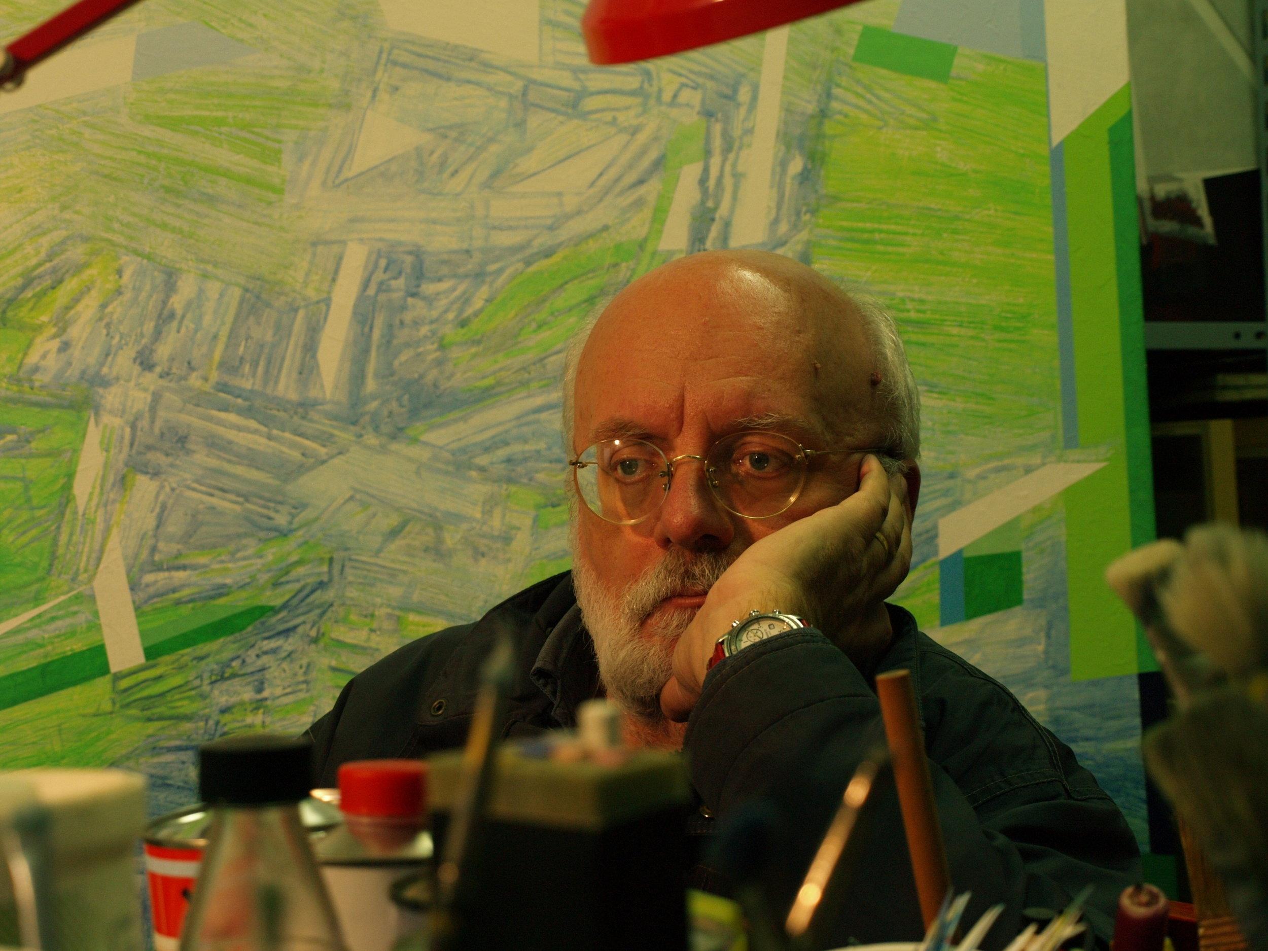 Luciano De Gironcoli in his studio in Cormòns (GO), Italy