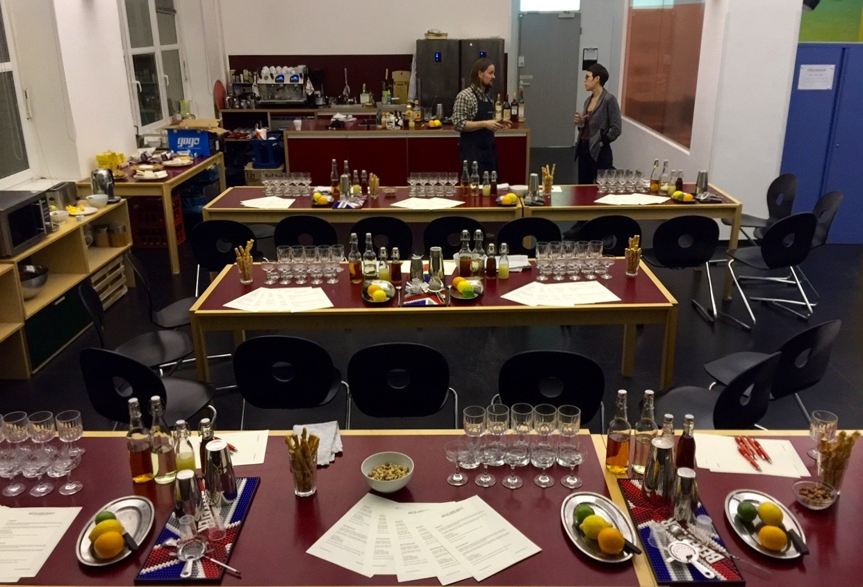 Staff Cocktail Workshop for 45 people. (Nov 2016)