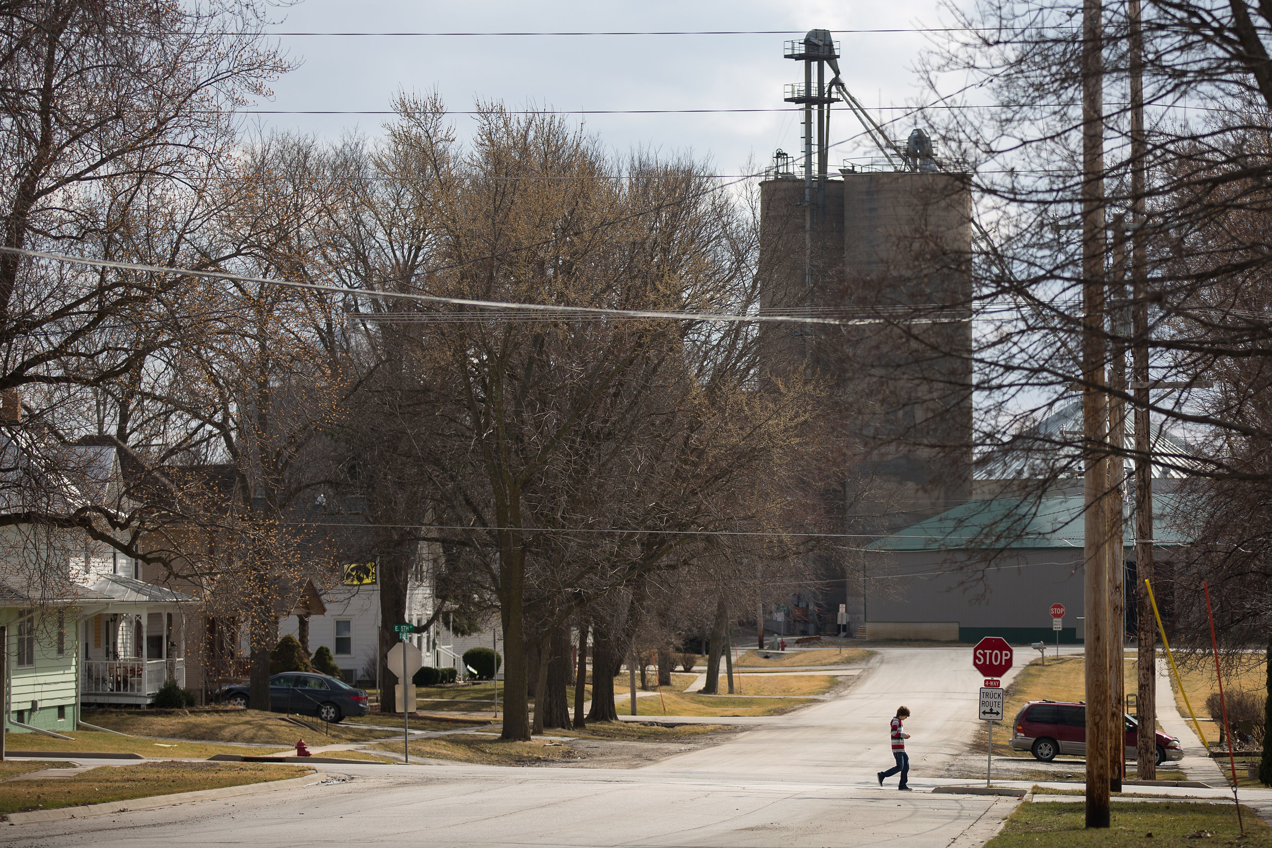 South Dubuque Street in Solon, Iowa on Tuesday, March 8, 2016. The town of Solon is home to about 2,500 people, but thanks to a sprawling geographic area and Iowa's open enrollment policy, the district has more than 1,500 students.