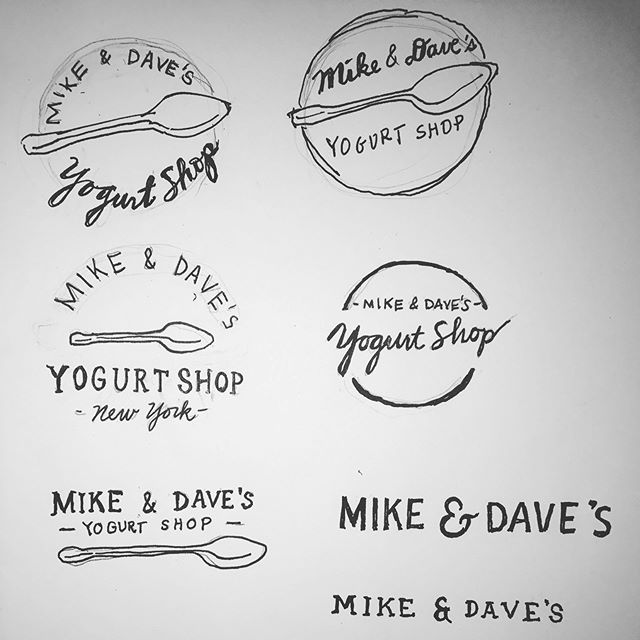 Storyboarding some ideas for Mike & Dave's Yogurt Shop! Stay tuned. 🔑@mike_fribourg & @davidasser 🎨 @jamieillustration