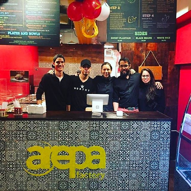 Congratulations to @arepafactorynyc for opening their second location at Turnstyle in Colombus Circle! #nyc