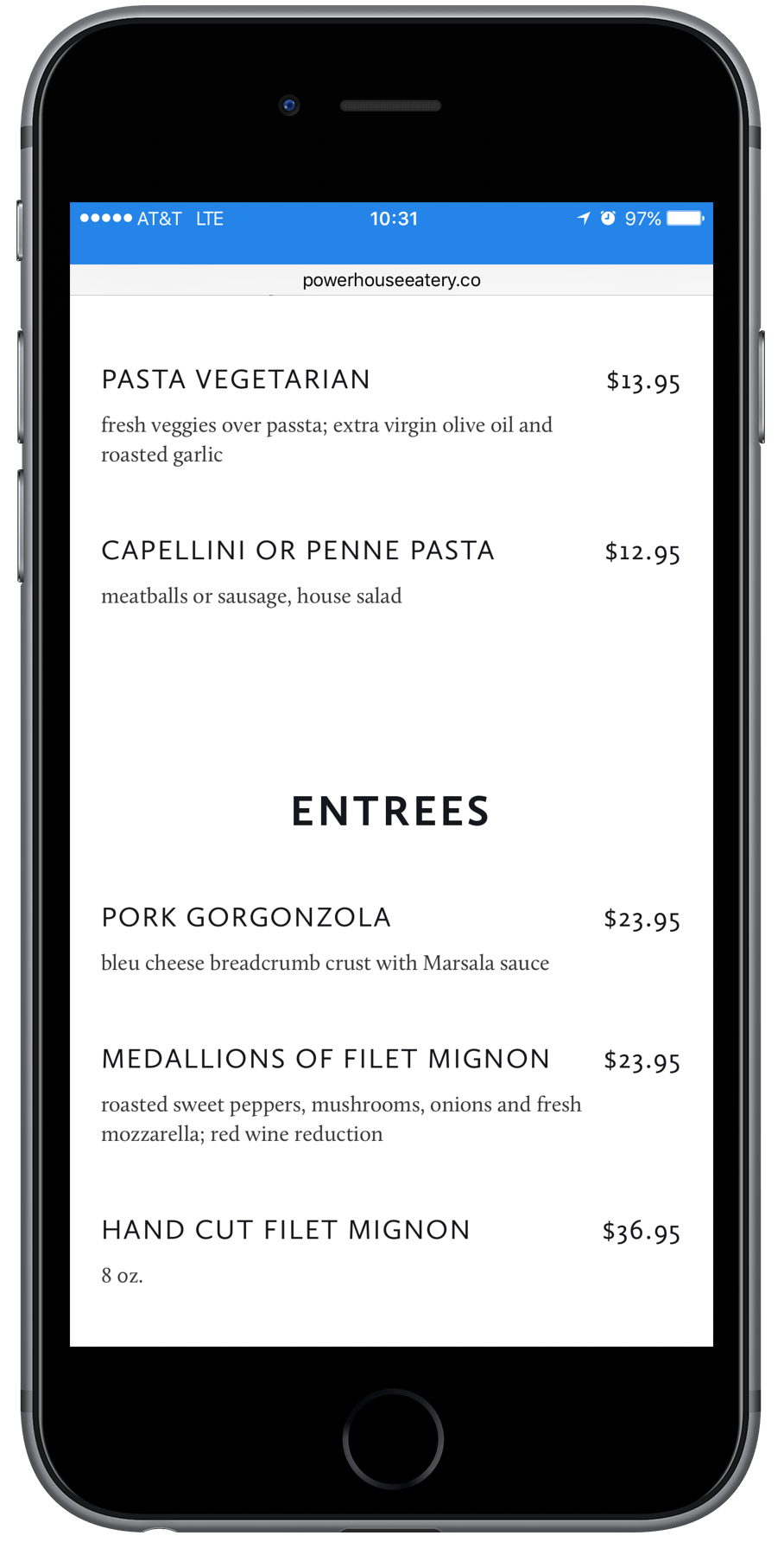 Responsive Restaurant Website Design