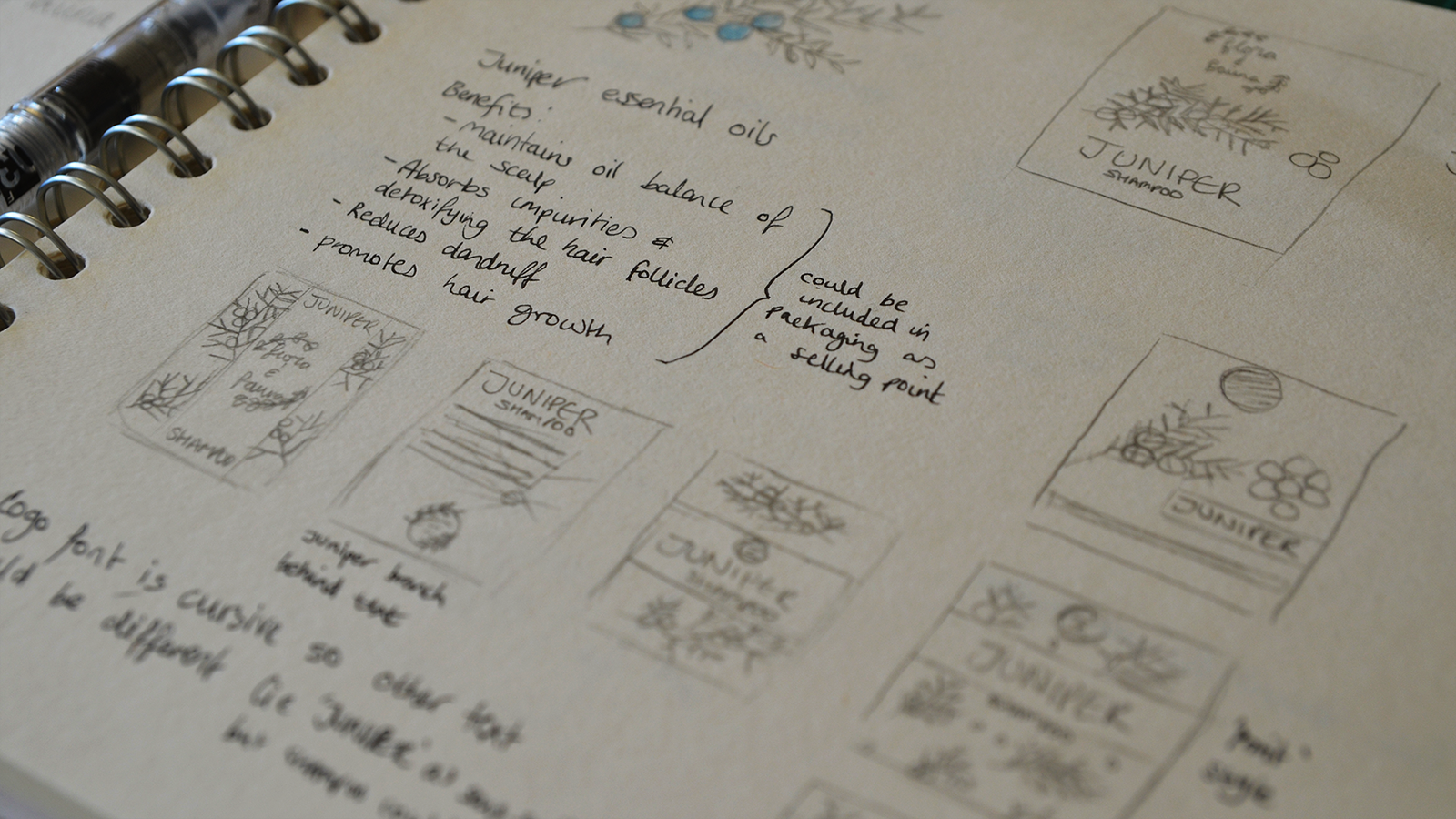 Often when designing, I like to do a lot of thumbnail sketches to get multiple ideas down quickly. From there I choose what to take to a digital format