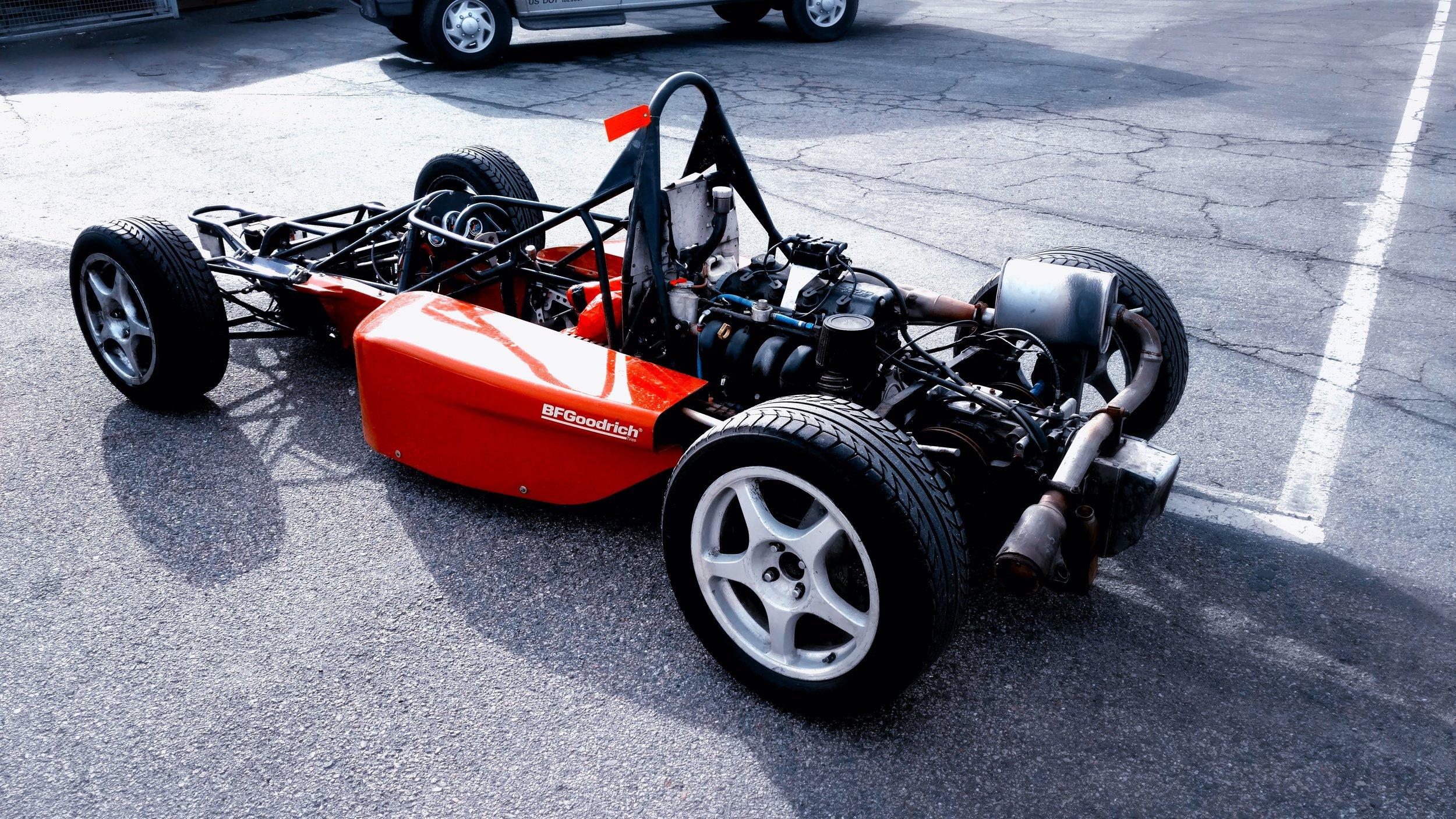 Formula Skip Barber car without bodywork