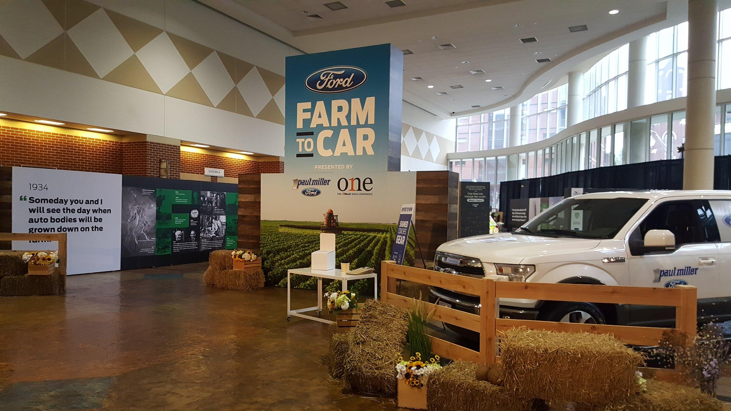 Ford Farm to Car Exhibit, Lexington, KY.  Zipie & Paul Miller Ford