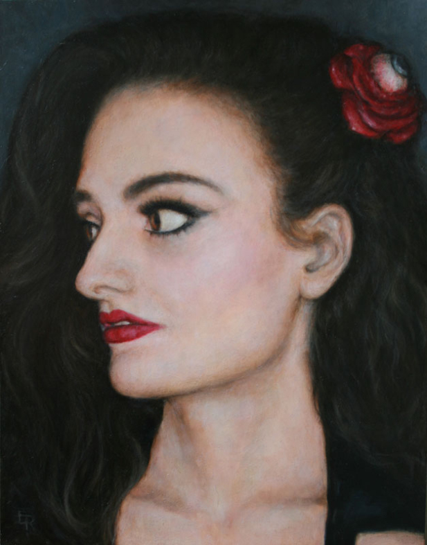 Sweet Thalita, oil on plywood