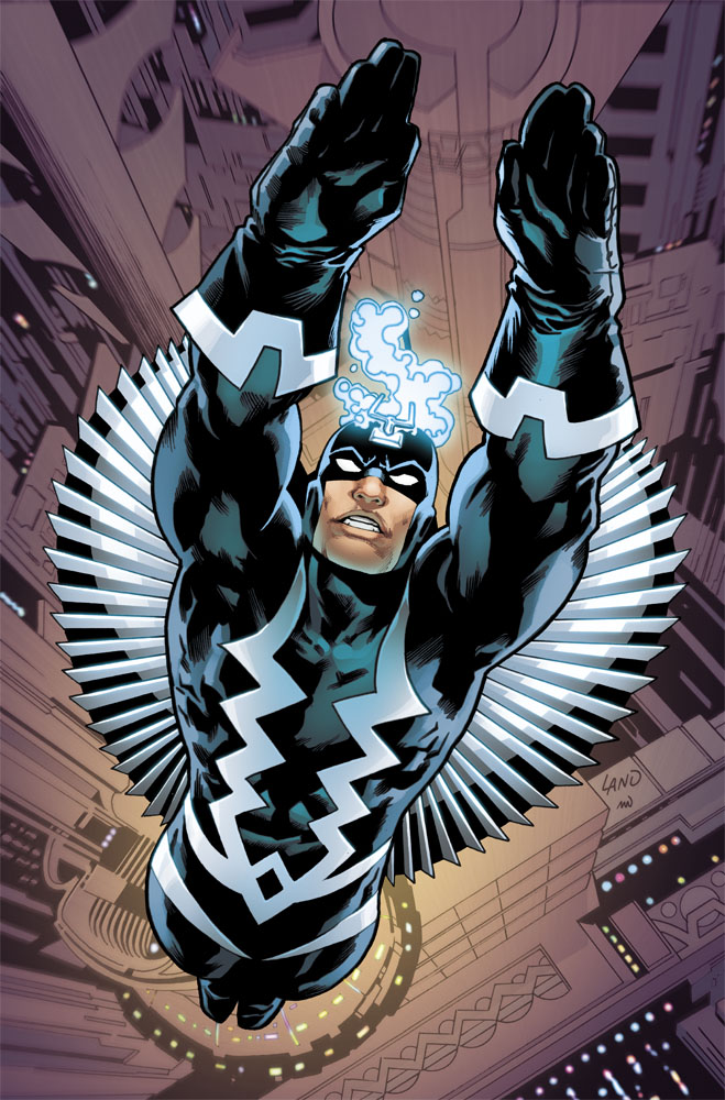9. Black Bolt can create a nearly impenetrable force field by focusing his energy around himself, and can use his electron abilities as extrasensory probes, highly sensitive to electromagnetic phenomena, and he can also jam certain electromagnetic mechanisms. Though exhausting, he can create particle/electron interaction fields solid enough to be traversed upon.