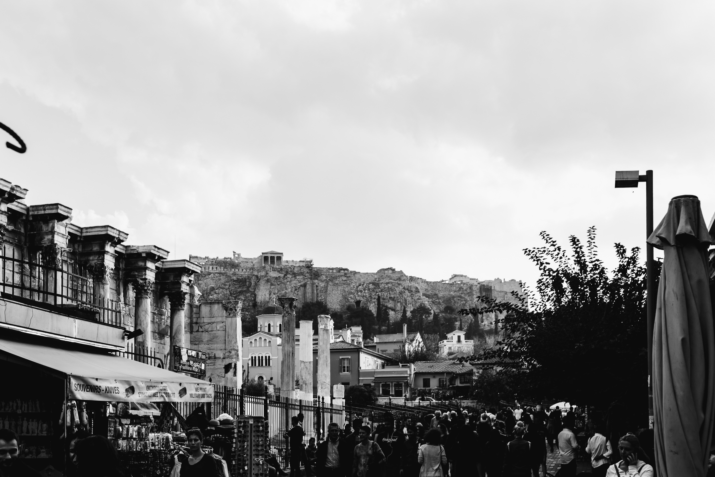 Acropolis overlooking the vintage street markets