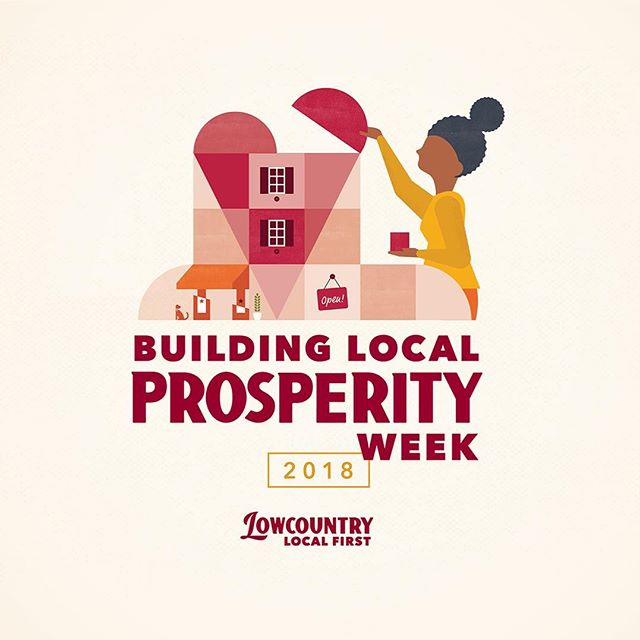"Building Local Prosperity Week is here! 📣❤️ _____________________  If you love the unique culture and character of Charleston, consider a donation to @Lowcountrylocal. We work tirelessly to support local businesses and to prevent our city from becoming ""Anywhere, USA."" _____________________  We're half way to our goal of raising $30,000 - and every dollar given this week is generously being matched by the Pearlstine Family Foundation and the Pathfinder Foundation. You can make a donation in support via lowcountrylocalfirst.org/donate and enable us to continue building local prosperity across the Lowcountry.  _____________________  #peopleandplacematter #supportLocalCHS #localprosperitychs"