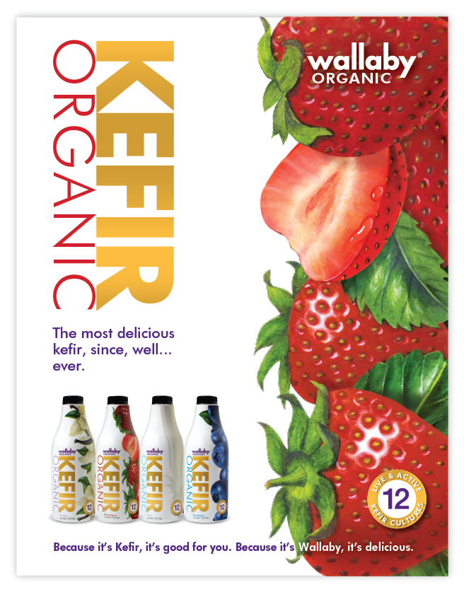 Marketing and advertising campaign for Wallaby kefir