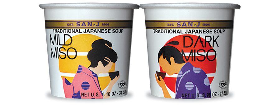 San-J miso package branding