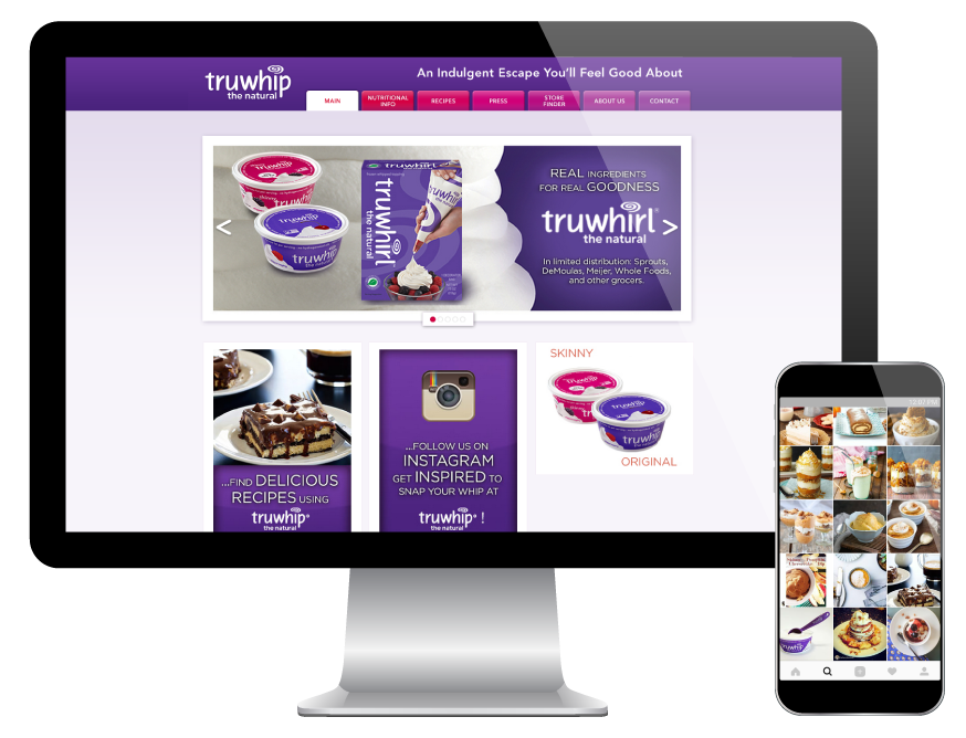 Interactive and responsive truwhip website