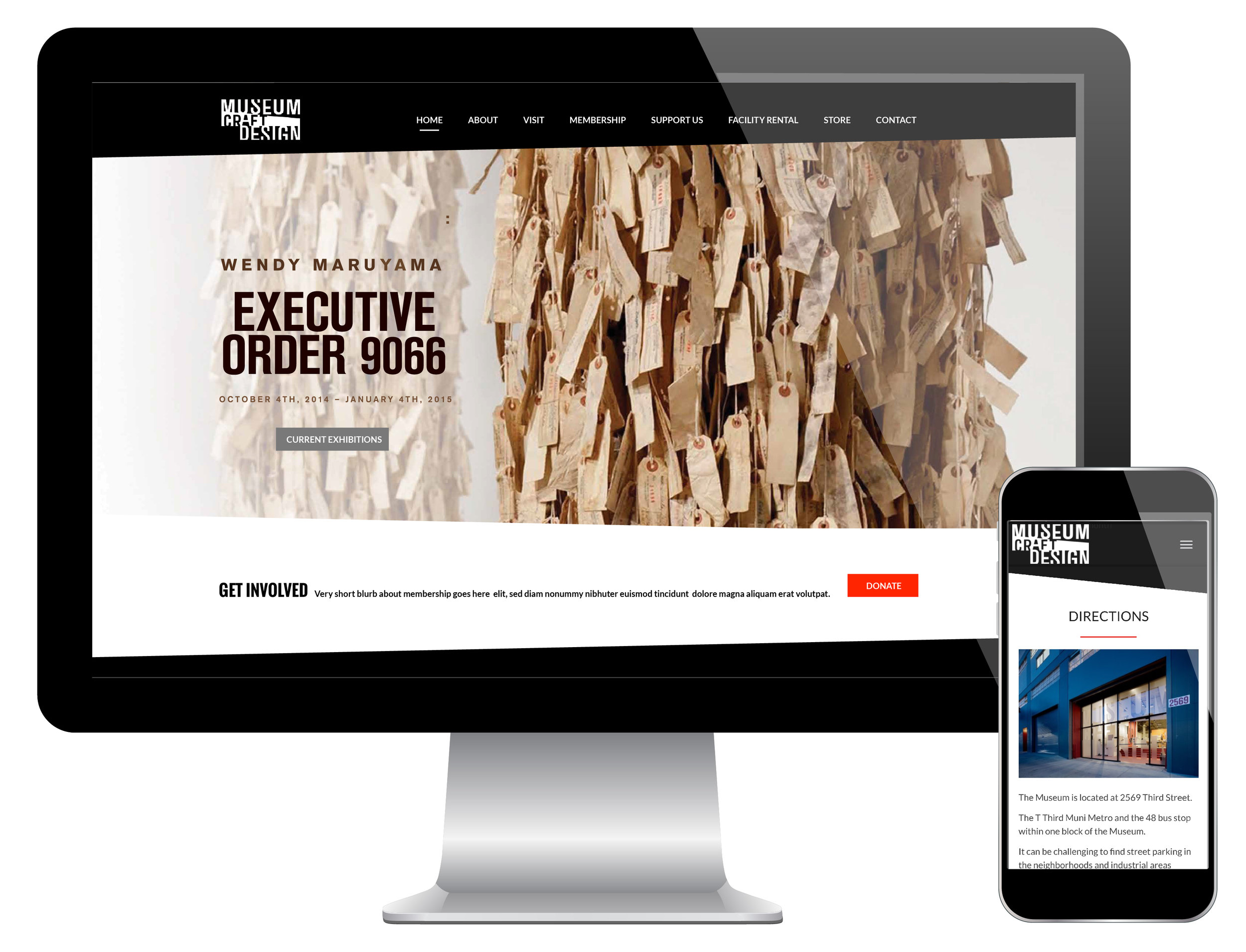 Web marketing and responsive website for museum