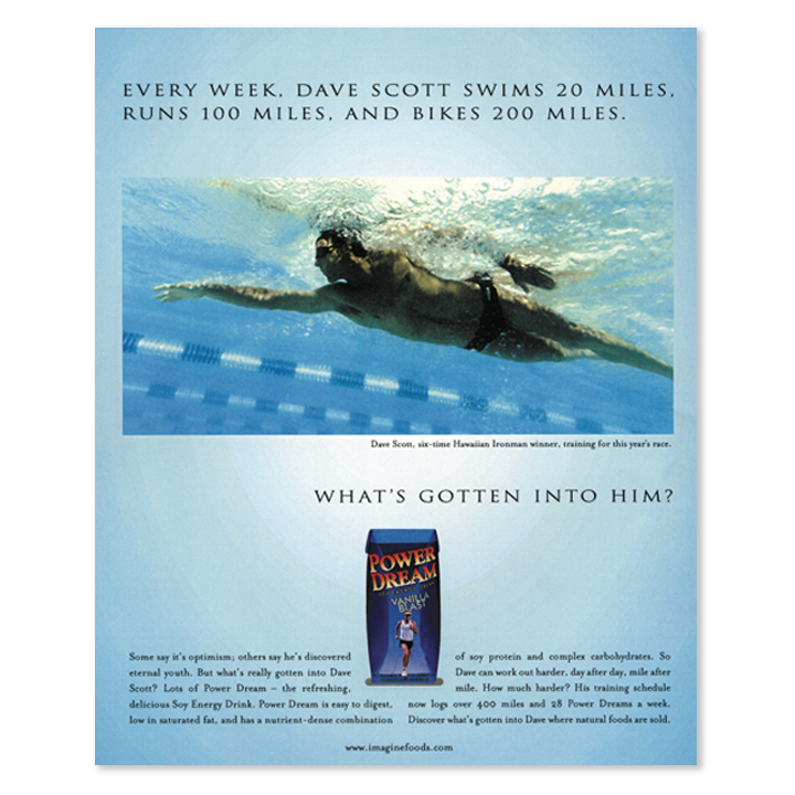 Image Foods male swimmer print advertisement