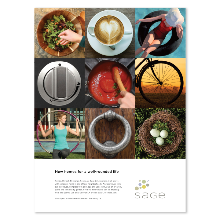 Sage Well Rounded Life print campaign