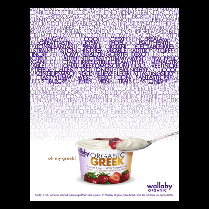 Wallaby yogurt OMG print advertisement