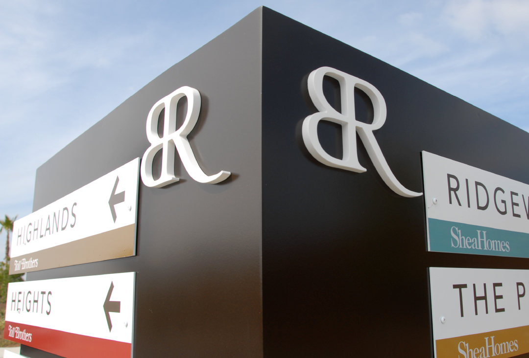 Marketing agency environmental graphics for Baker Ranch