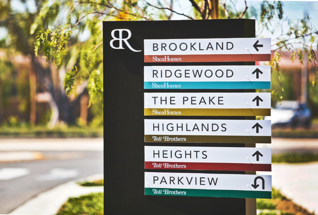 Advertising agency environmental signage for Baker Ranch