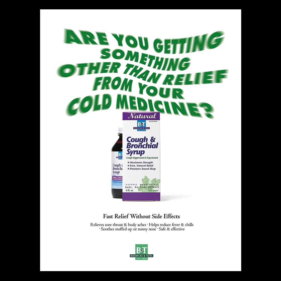 Boericke & Tafel cough syrup print advertisement