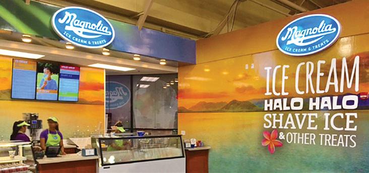 Magnolia Ice Cream & Treats interior, Waipahu, HI