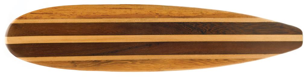 Magnolia wood surfboard