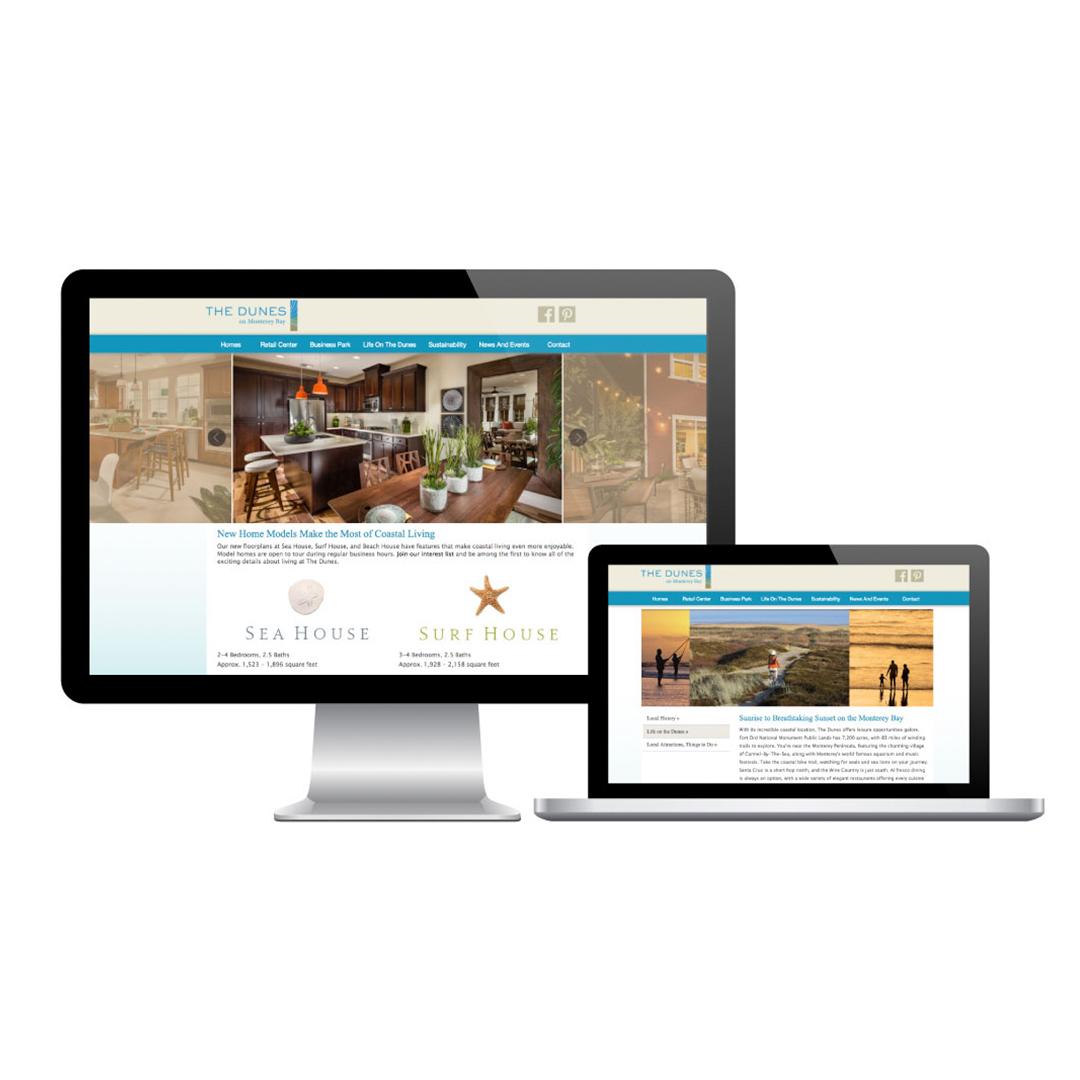 Digital marketing responsive website The Dunes