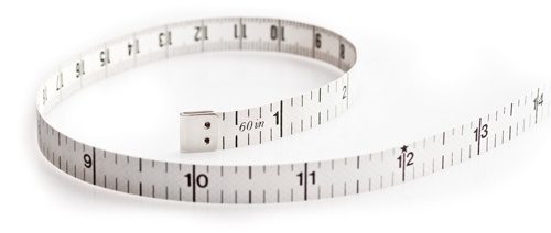 Calorease white tape measure