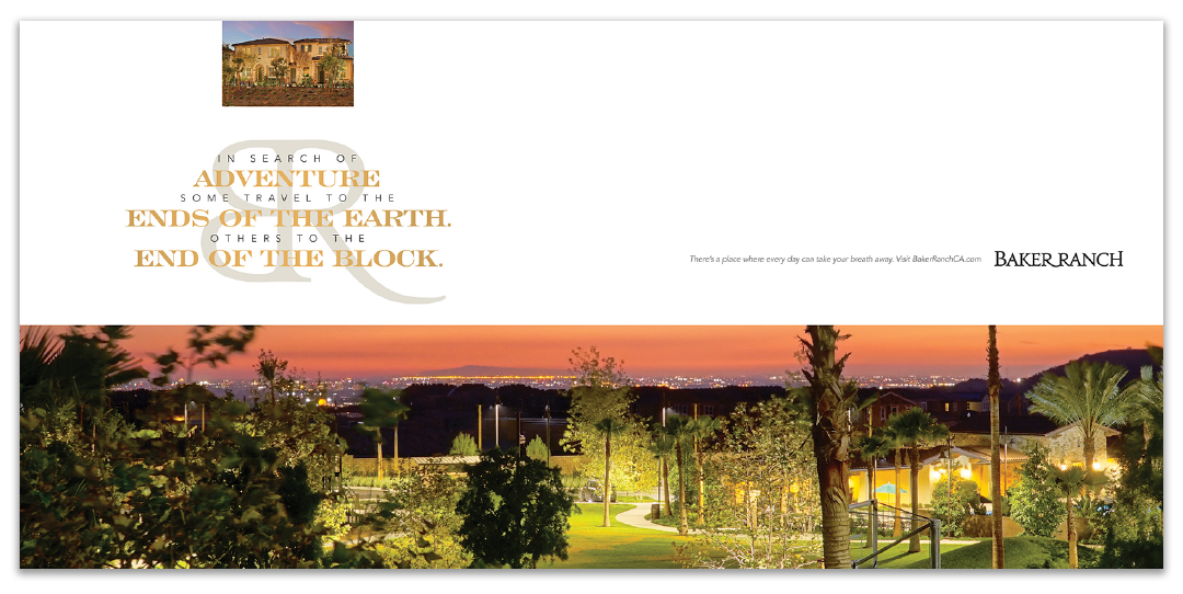Print advertising Baker Ranch Adventure