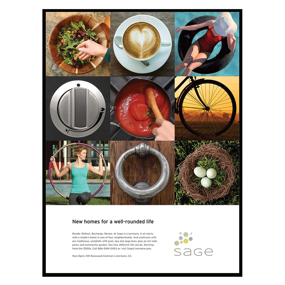 Magazine print advertising for Sage