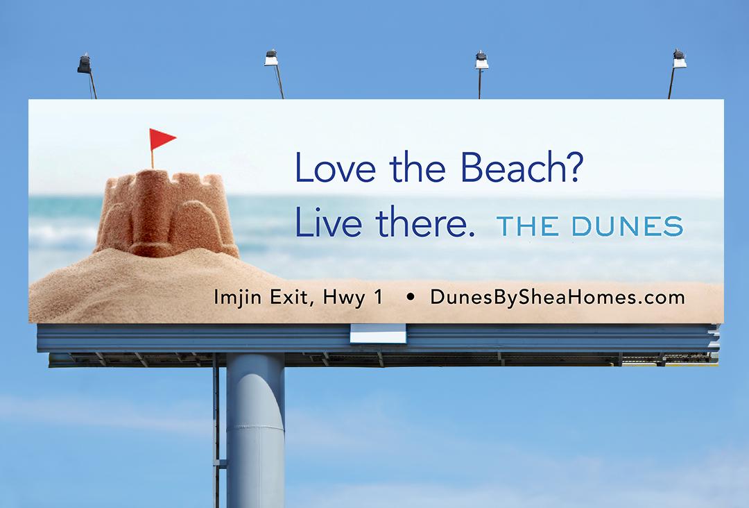 The Dunes billboard advertisement