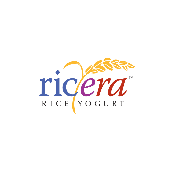 Rice yogurt ricera logo design