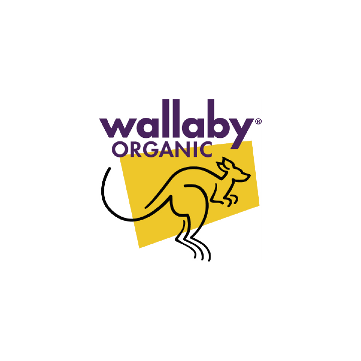 Wallaby organic yogurt kangaroo logo
