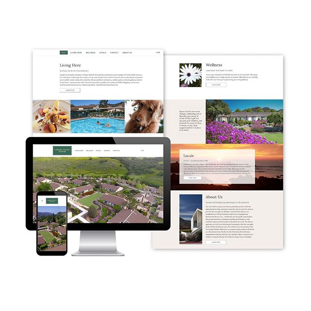 New web design work for Carmel Valley Manor 💻