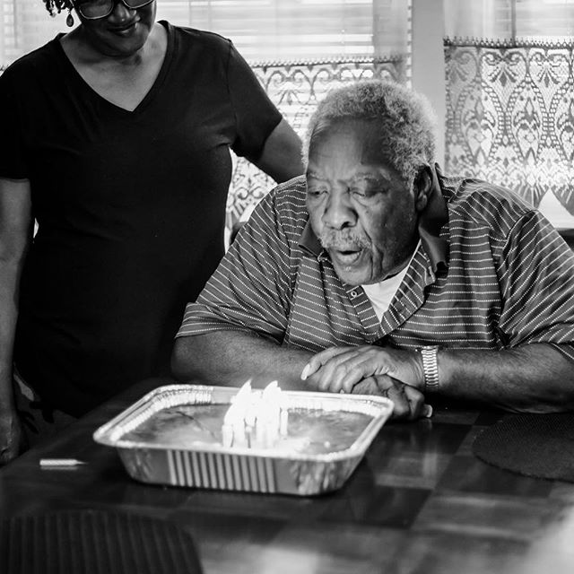 "02.25.19 | Family Time __________ I try not to take my camera with me to family functions because I like to just enjoy my time and be present!  Since I hadn't been to Sunday dinner in a while and it was a special day for the Head of the family I felt it was necessary to just capture some of our day! Mr. Stewart A.K.A ""Da"" (no it is NOT misspelled) turned 80 years young! So blessed to be apart of this family. My in-laws are amazing! . . #familyfirstalways #capturingtheordinary #fortheloveofblackandwhite #lifecanbethissimple"