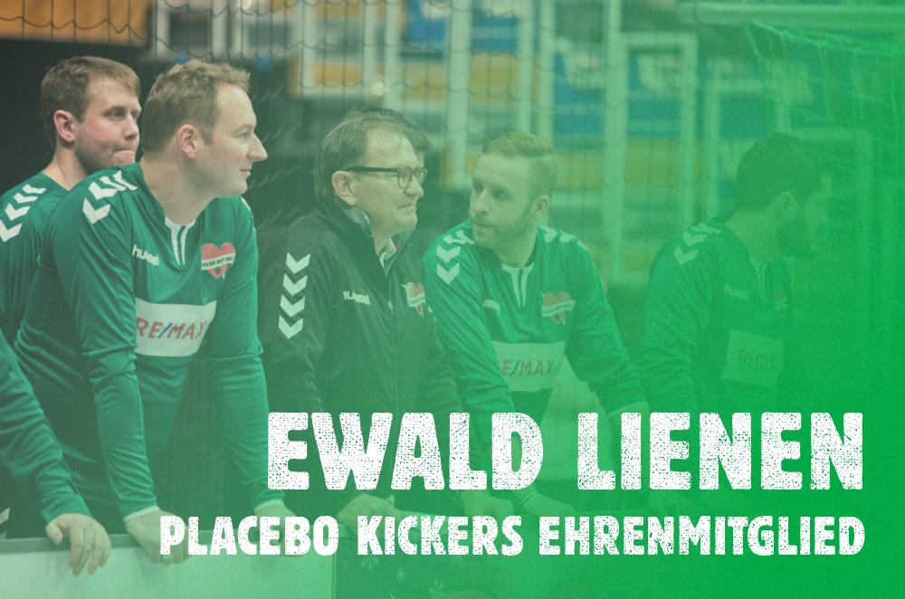 Transfer Fix!   Ewald Lienen wechselt in der Rolle des Ehrenmitglieds unbefristet zu den Placebo Kickers. Wir freuen uns, einen so erfahrenen und vielseitigen Spieler und Trainer in unseren Reihe begrüßen zu dürfen.