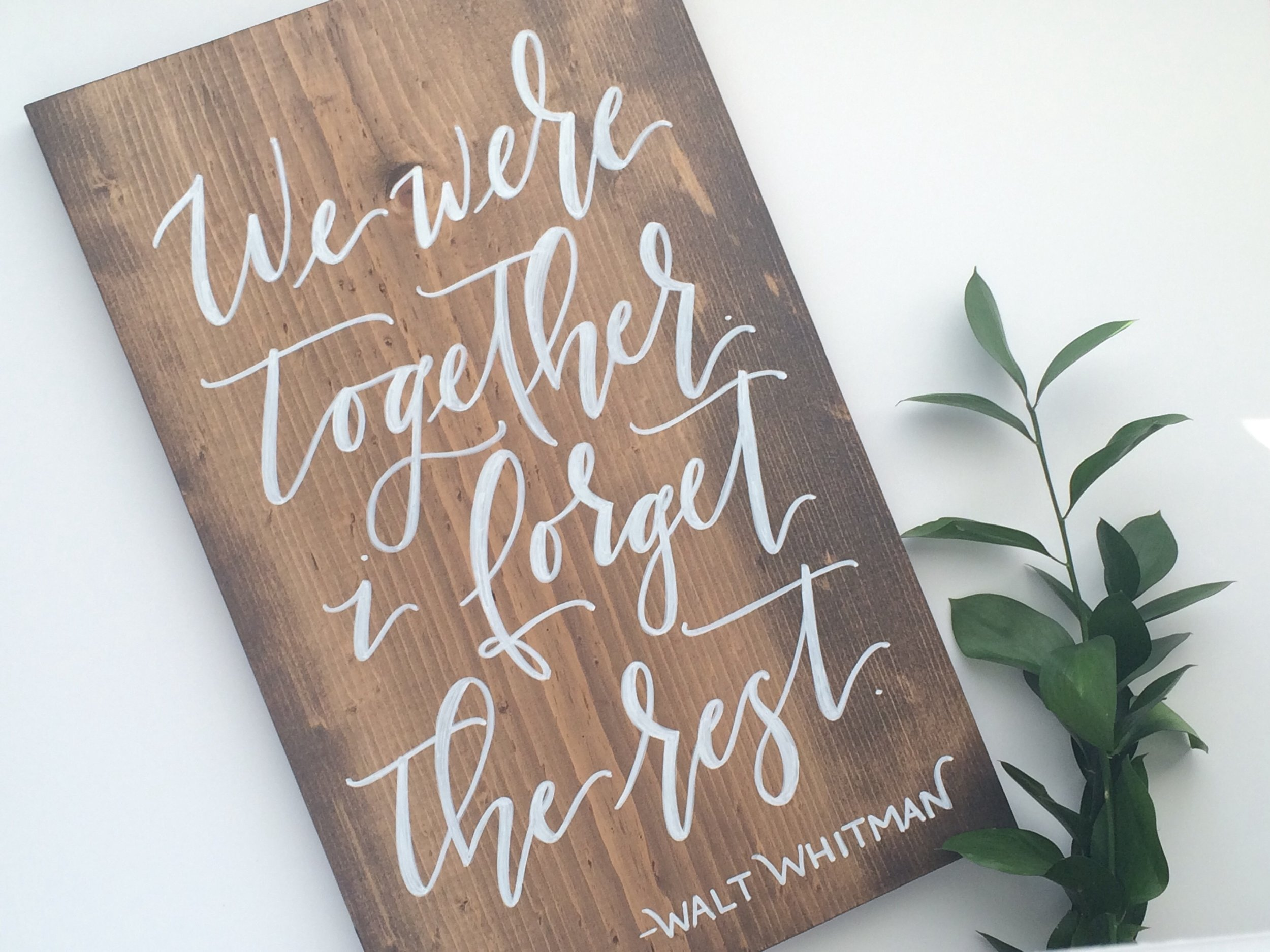 Shop my custom signage for your wedding day or home decor