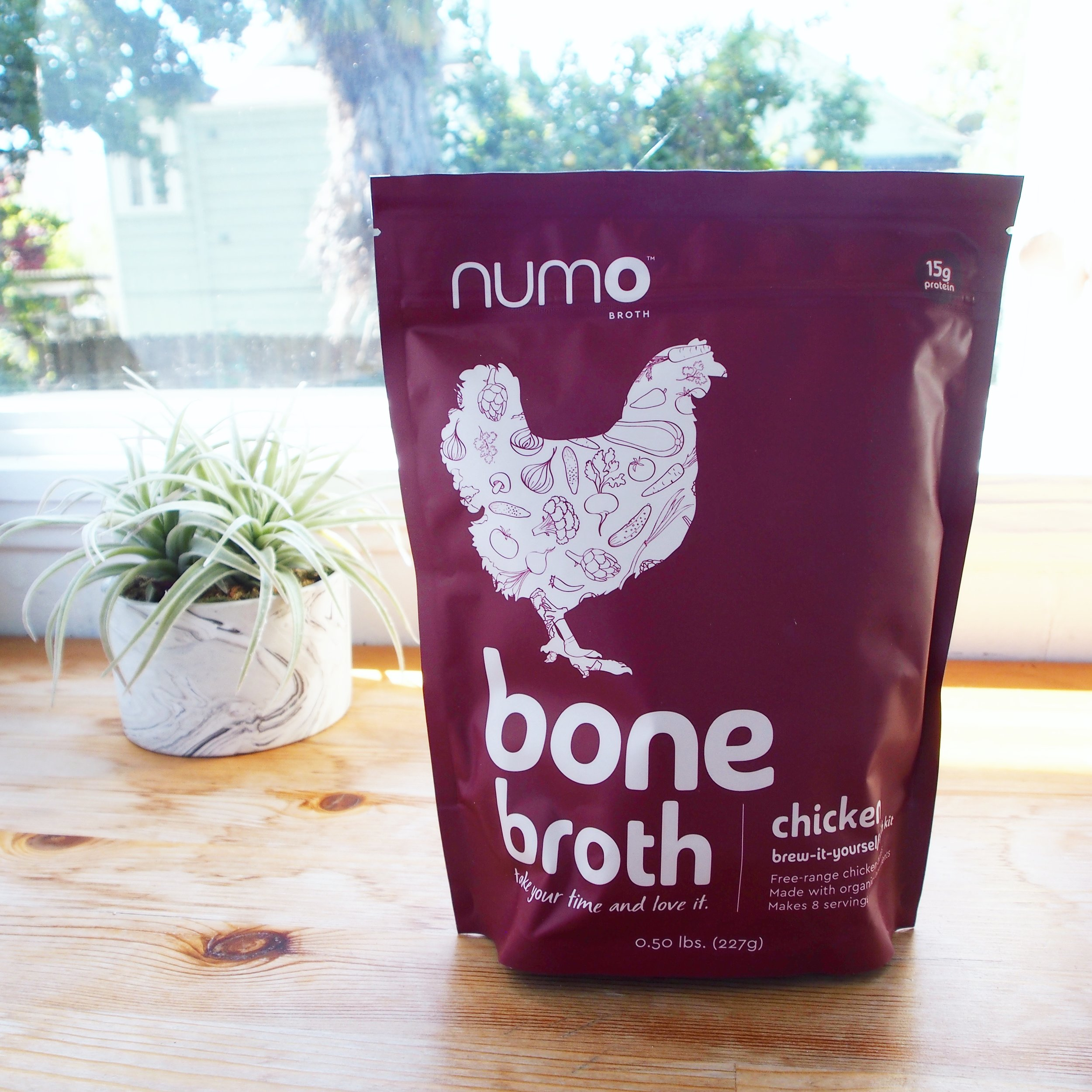 Numo's Chicken Bone Broth is a very easy broth to make and perfect for ramen recipes because it's cooked overnight with little hands-on time!