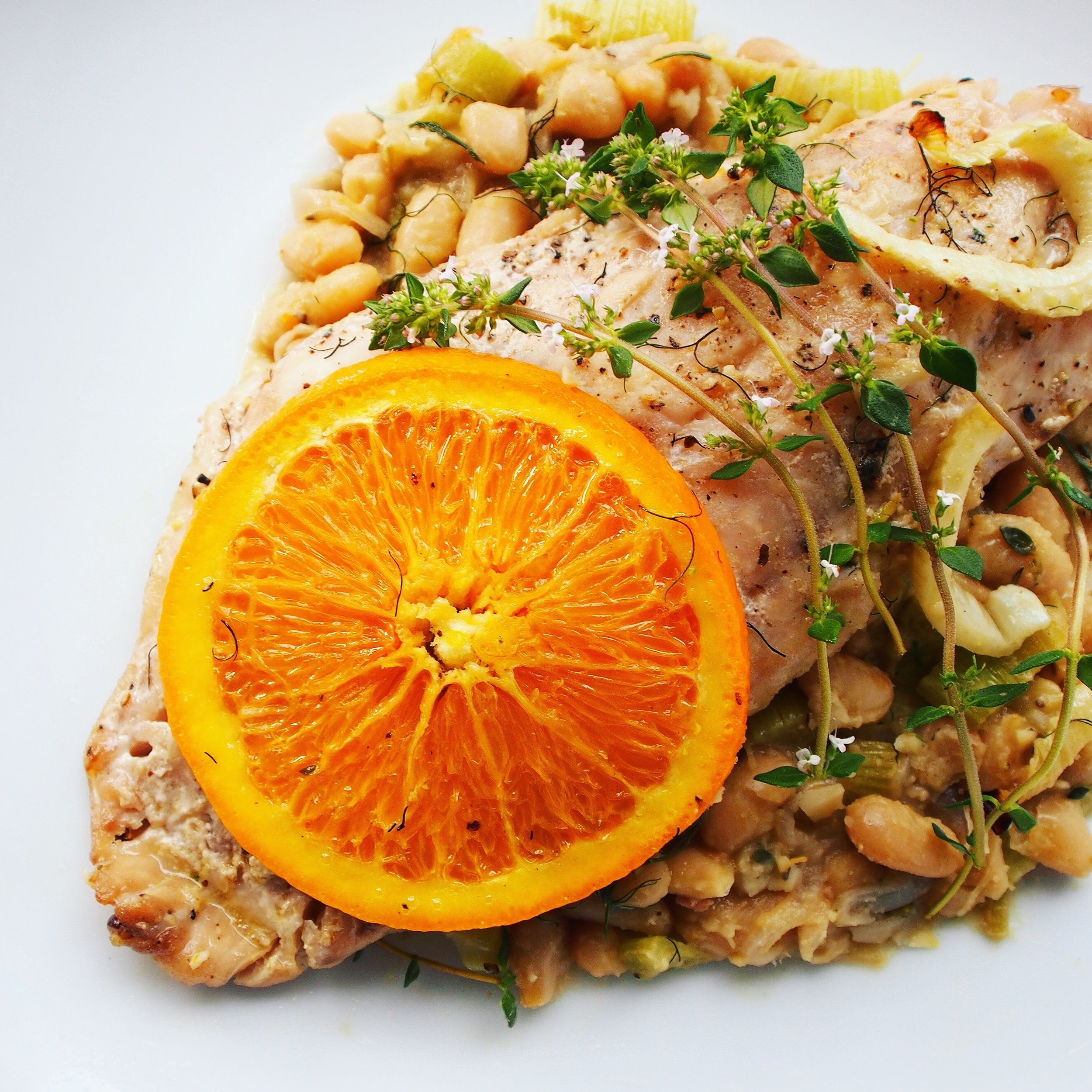 This rockfish recipe is a healthy and easy whitefish recipe. This quick fish recipe is paired with beans and oranges to make it extra nutritious!