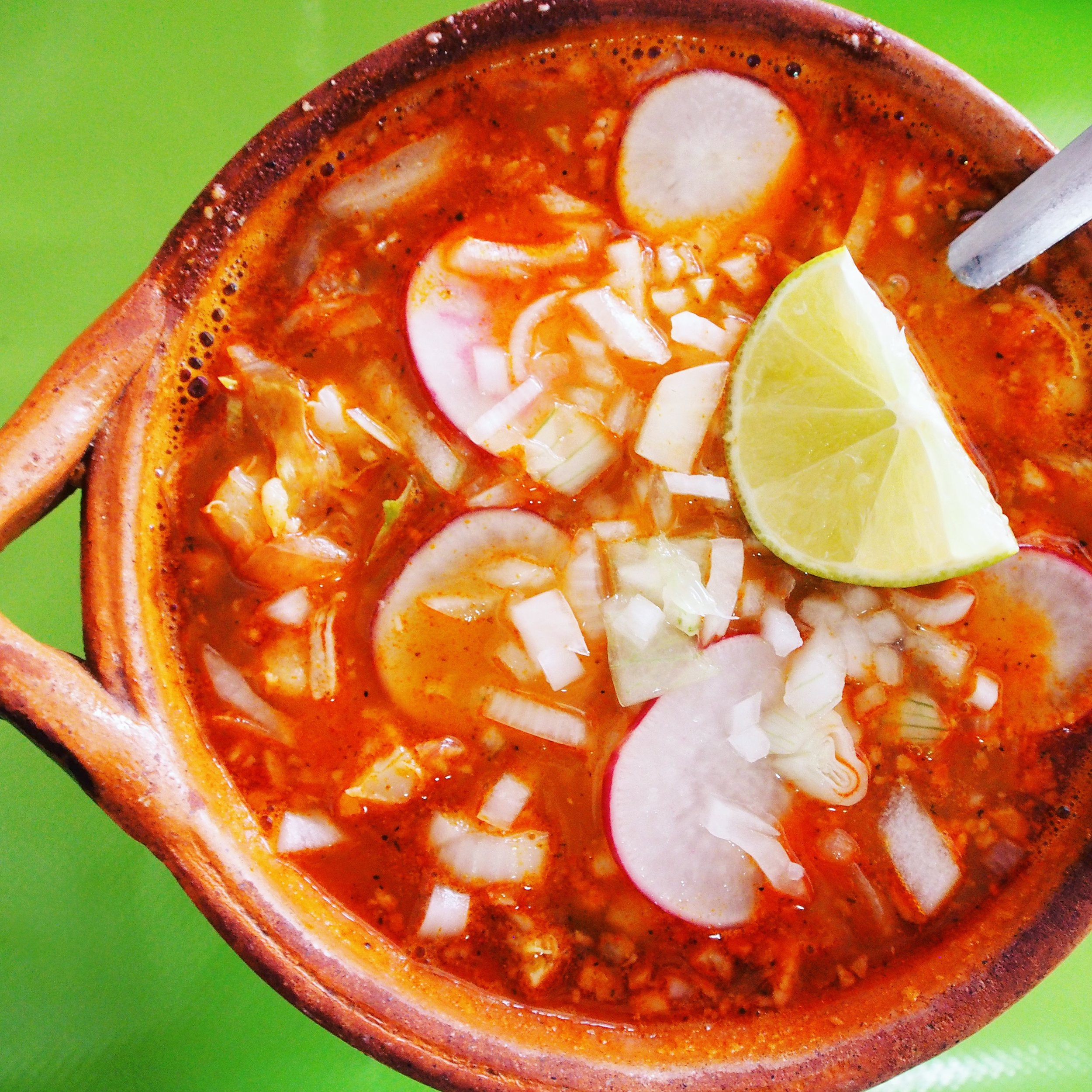 Here is posole soup from el Jurado restaurant in Playa del Carmen. The posole was traditional and delicious!