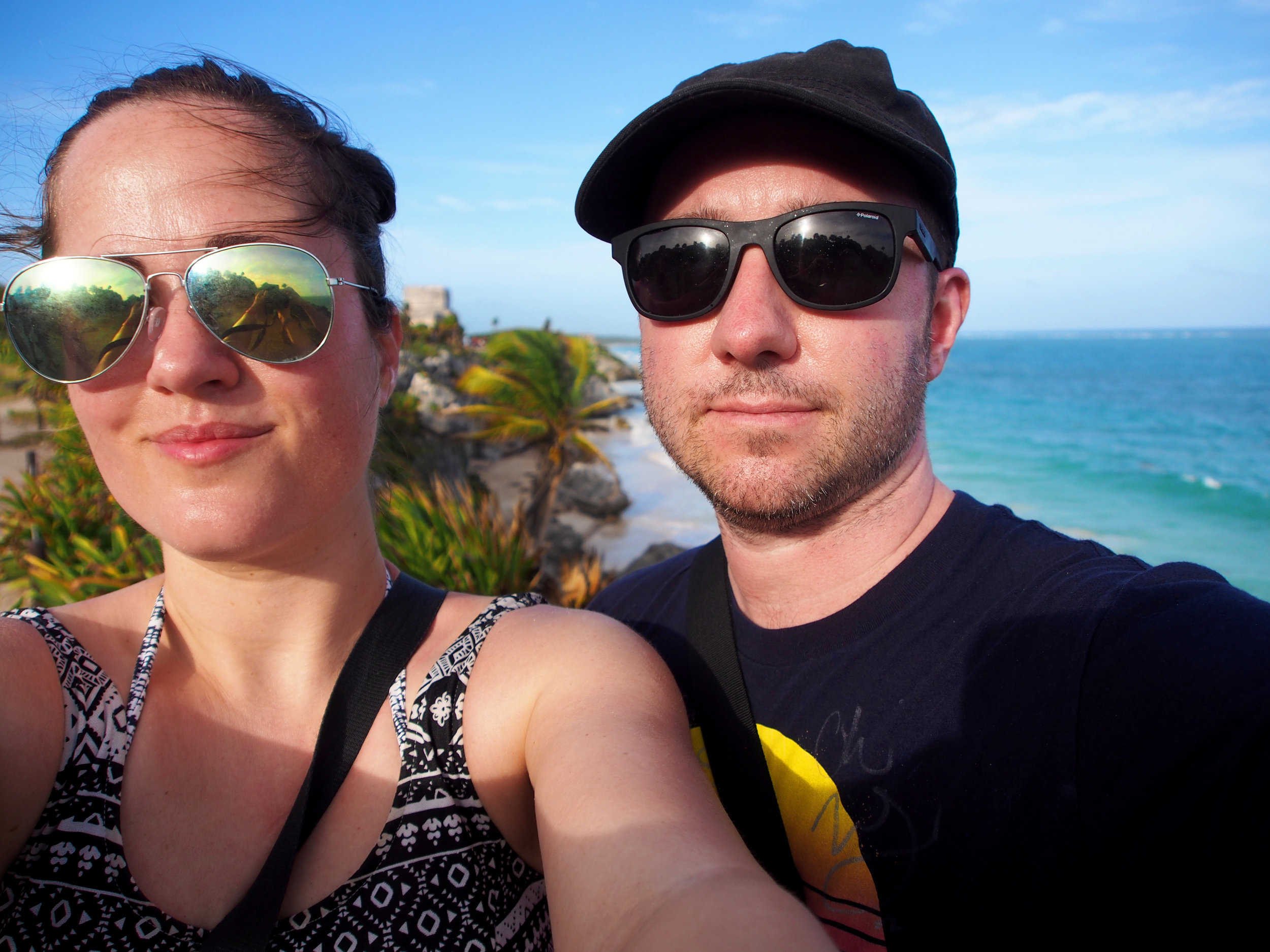 Selfie at the tulum ruins