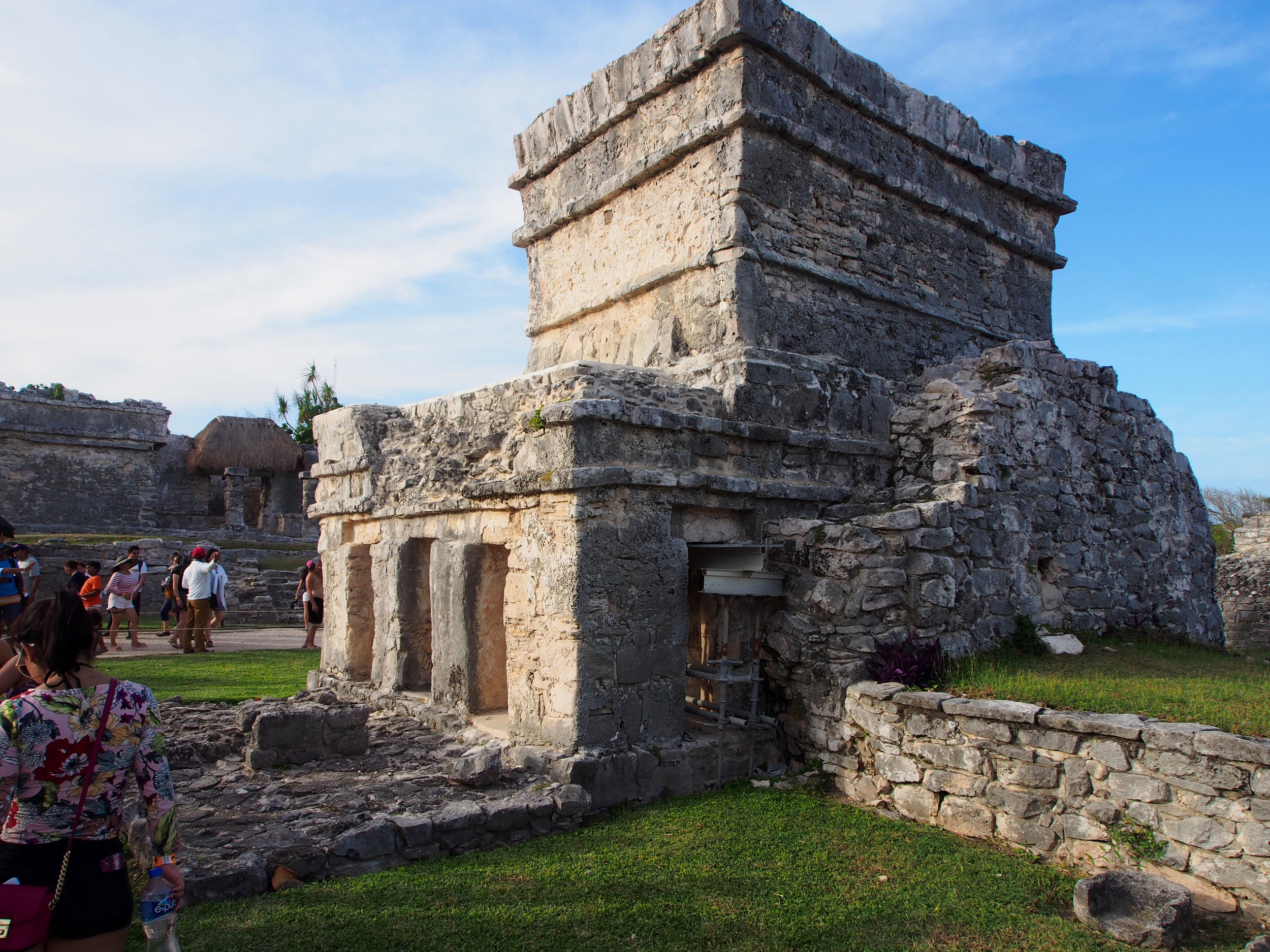 Temple of the Frescoes in Tulum Mexico