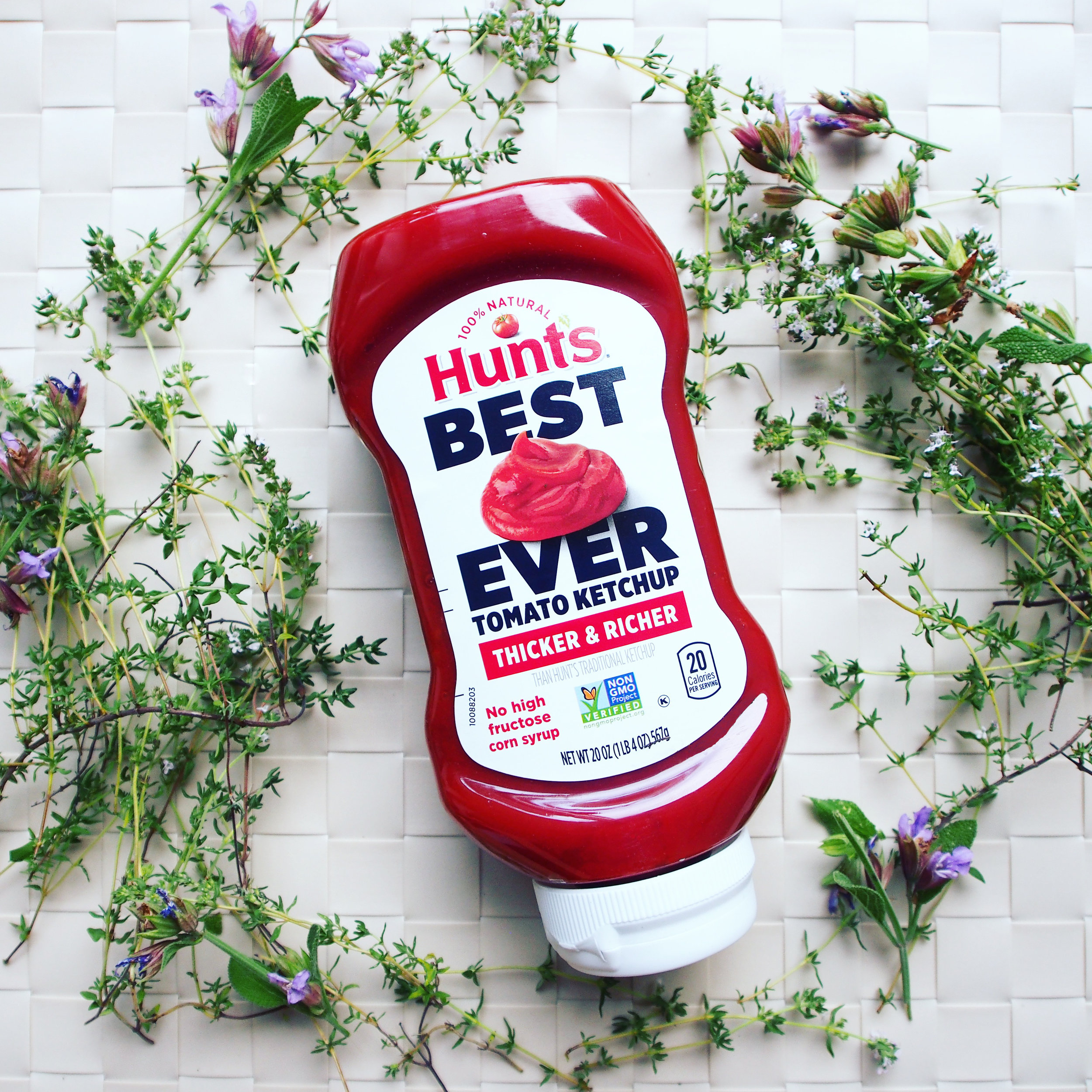 This is a bottle of Hunt's Best Ever Ketchup. It's a great ketchup to use for summer grilling and get togethers!